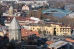 Тбилиси. Панорама с новым мостом через Куру.